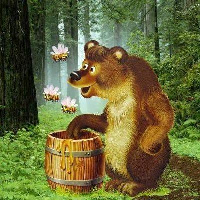 медведь против пчёл