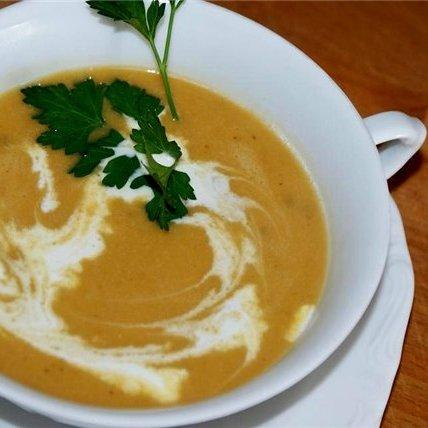 Тыквенный крем-суп с мёдом и тимьяном