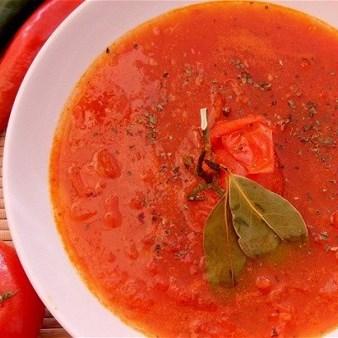 Томатный суп с мёдом и имбирём