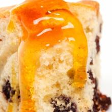 Медовый кекс с грецкими орехами